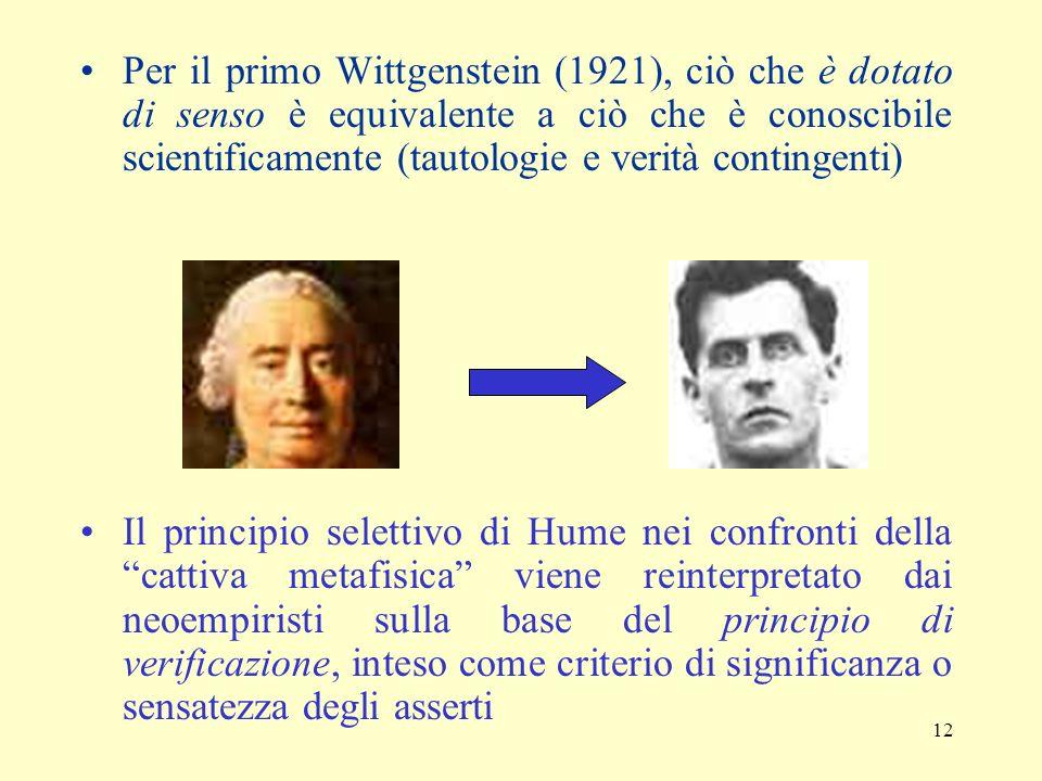 11 La natura delle teorie scientifiche nel pensiero neopositivista Metodo di esposizione storico (4 tappe): Dibattito settecentesco sullorigine delle