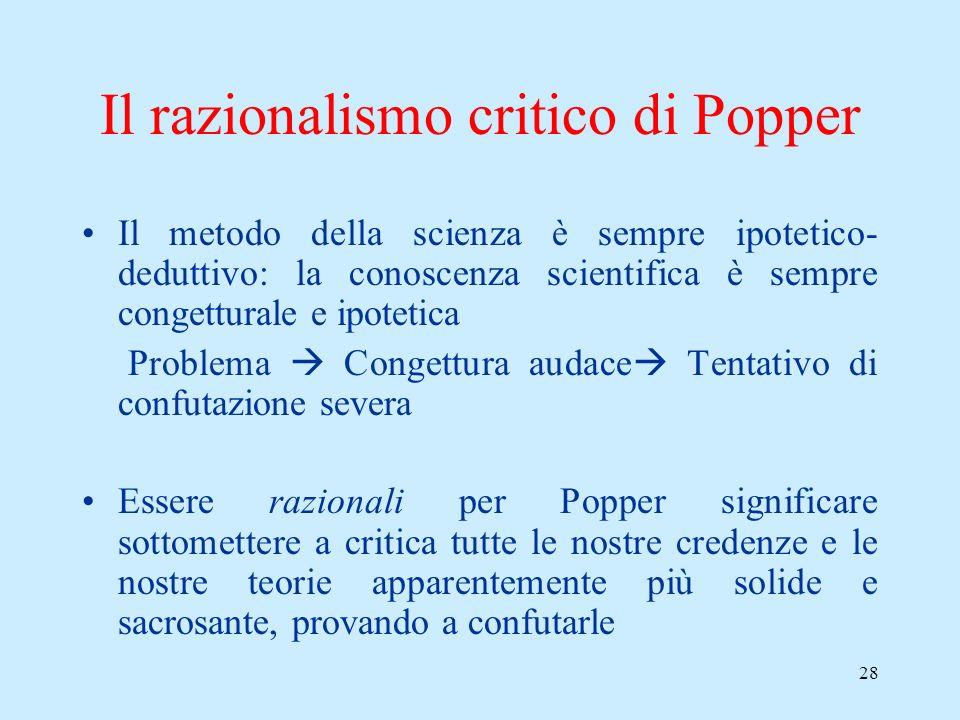27 Lantirealismo sulle teorie di Popper Cè unaltra asimmetria epistemologica che dipende dalla prima: mentre possiamo venire a sapere solo se una teor