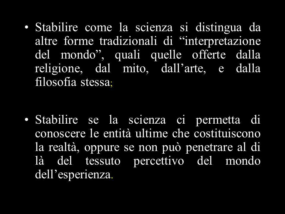 17 Difficoltà del criterio di verificazione /osservazione (C) Lautoreferenzialità di C Laspetto modale di (C) è indispensabile: la verificazione di fatto (ciò che è stato già verificato) limiterebbe eccessivamente il campo di significanza della scienza.