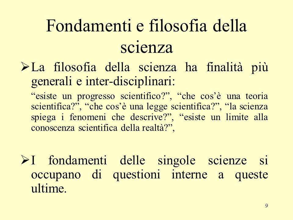 8 Scienza e valori Scienza e politica Il carattere pubblico e non dogmatico della scienza – basato su un sapere controllabile empiricamente da tutti e