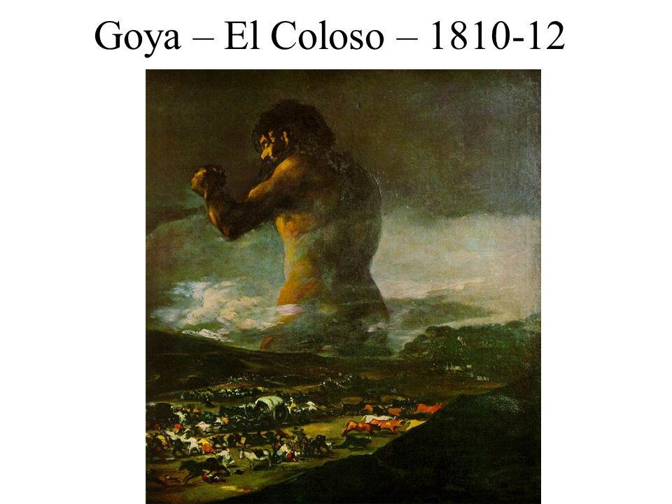 Goya – El Coloso – 1810-12