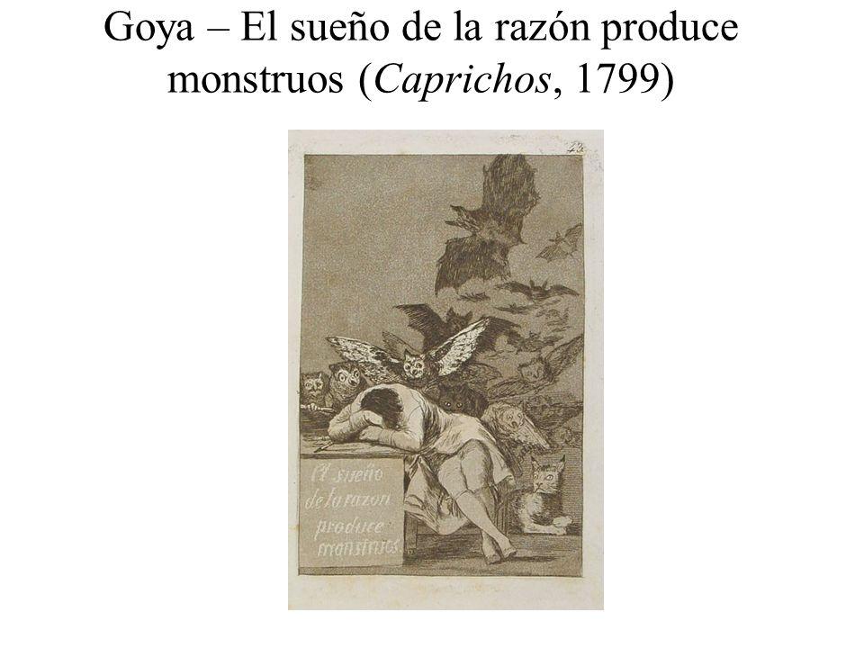 Goya – El sueño de la razón produce monstruos (Caprichos, 1799)