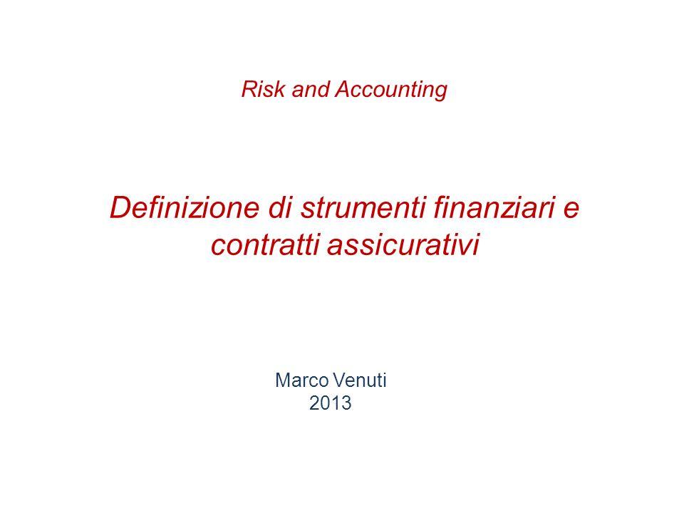 Stato dellarte Definizione strumento finanziario Strumenti derivati impliciti Contratti e rischi assicurativi Rischio finanziario Partecipazione discrezionale Esempi di classificazione contratti Shadow accounting Agenda Pagina 2