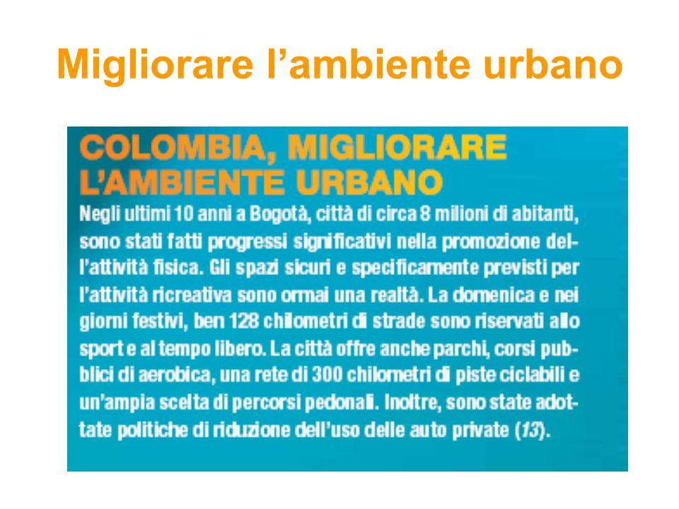 Migliorare lambiente urbano