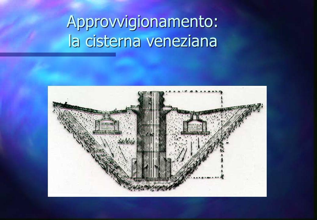 Approvvigionamento: la cisterna veneziana