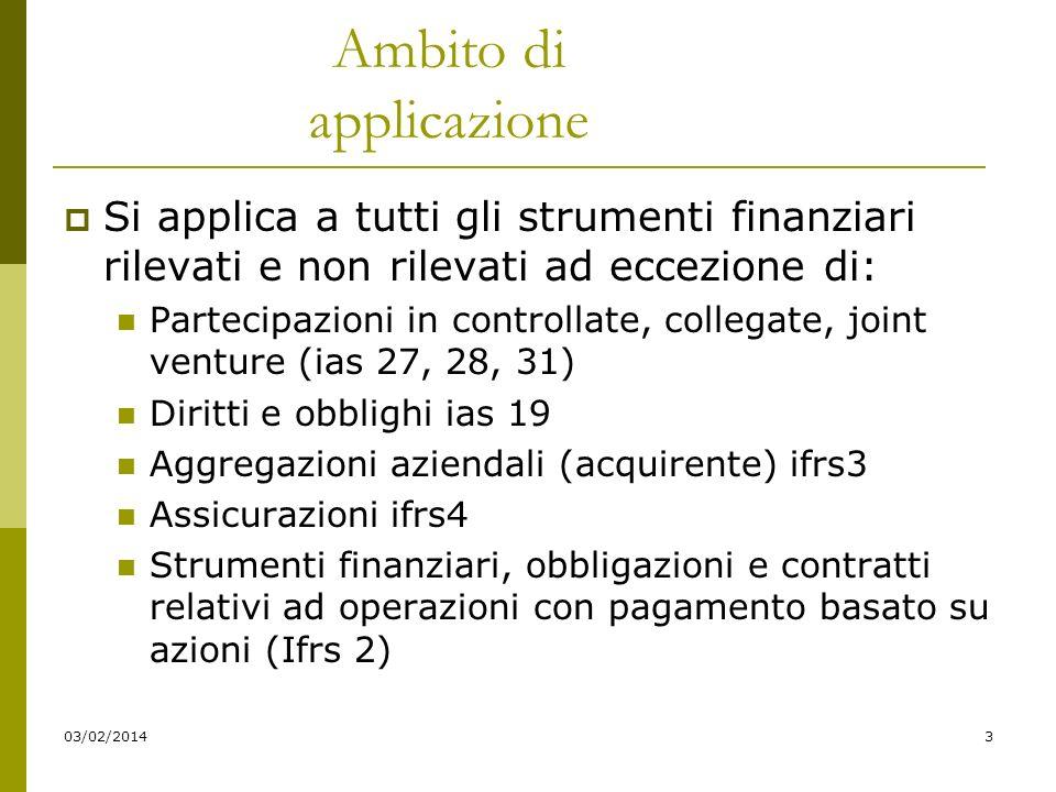 03/02/20144 A.Rilevanza strumenti finanziari Ripartizione delle informazioni aggiuntive in SP e CE Stato patrimoniale Indicazione valore contabile per categorie (a.f.