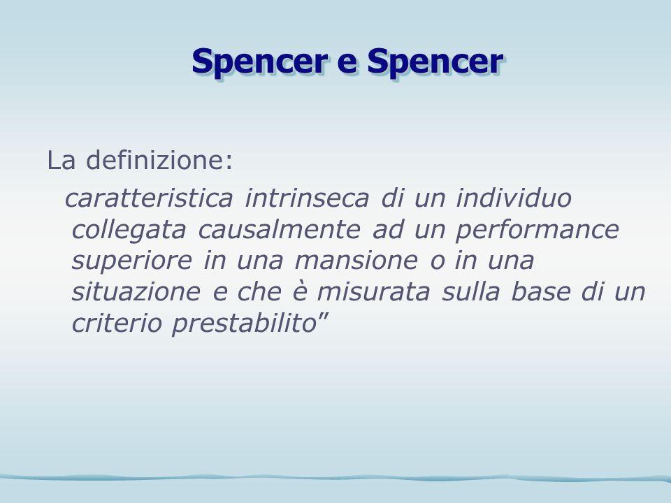 La definizione: caratteristica intrinseca di un individuo collegata causalmente ad un performance superiore in una mansione o in una situazione e che