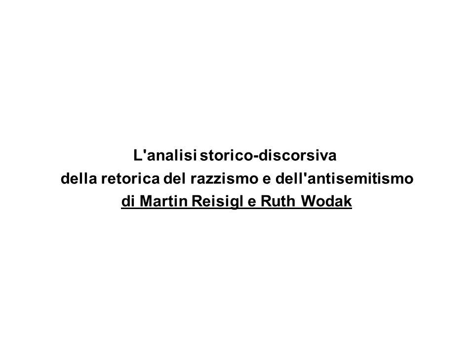 L'analisi storico-discorsiva della retorica del razzismo e dell'antisemitismo di Martin Reisigl e Ruth Wodak