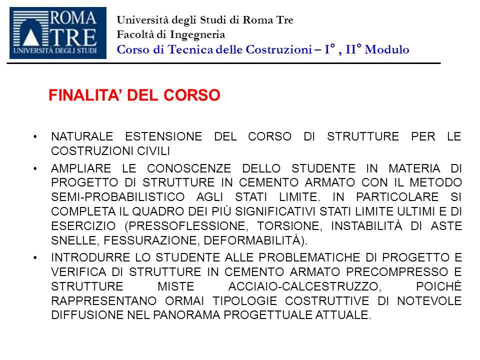 NATURALE ESTENSIONE DEL CORSO DI STRUTTURE PER LE COSTRUZIONI CIVILI AMPLIARE LE CONOSCENZE DELLO STUDENTE IN MATERIA DI PROGETTO DI STRUTTURE IN CEME
