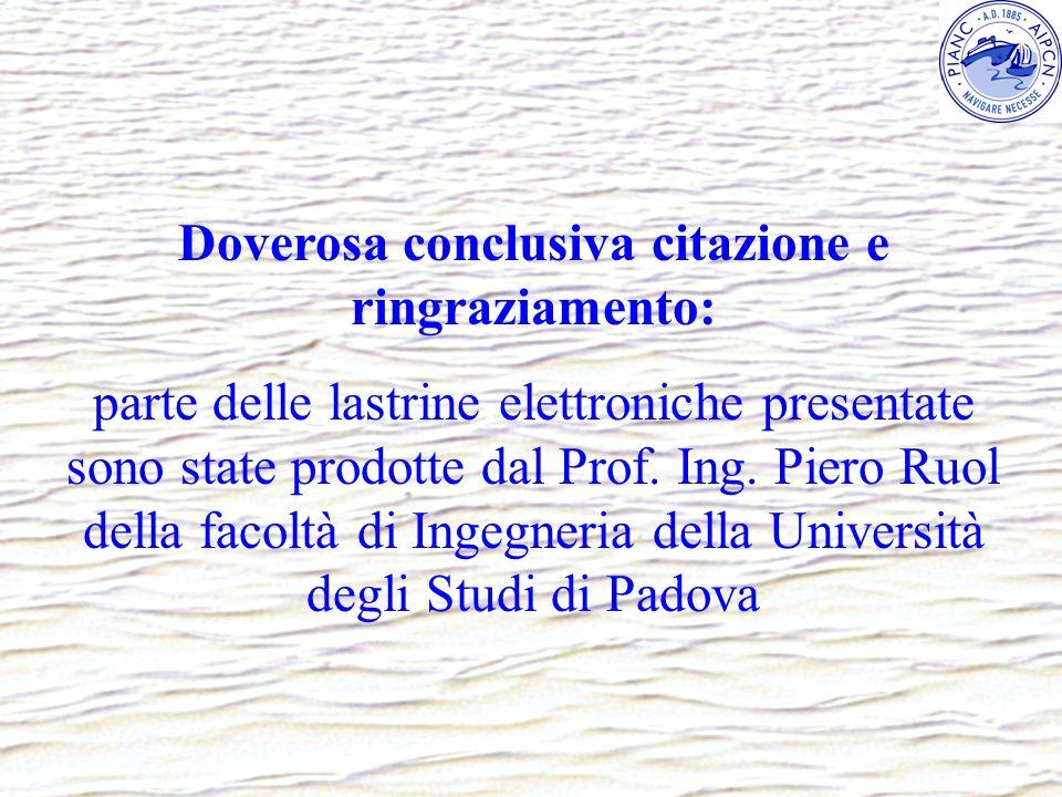 Doverosa conclusiva citazione e ringraziamento: parte delle lastrine elettroniche presentate sono state prodotte dal Prof. Ing. Piero Ruol della facol