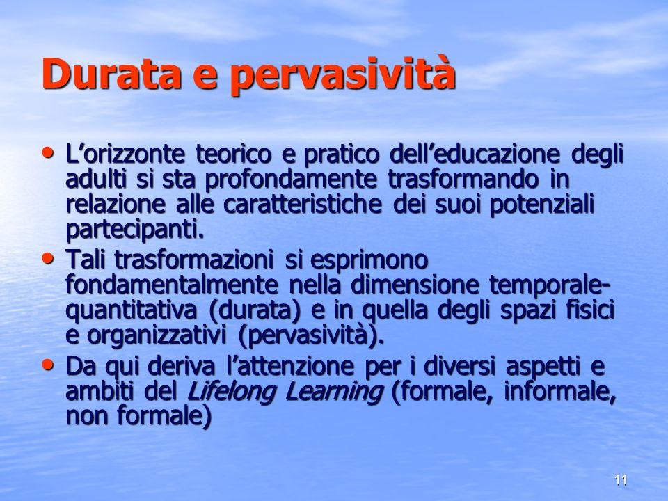 12 Centratura sul soggetto Il concetto di apprendimento permanente si muove nello spazio teorico di quegli orientamenti culturali e metodologici che postulano la centralità del soggetto quale condizione necessaria nei processi formativi di cui gli adulti sono partecipi.