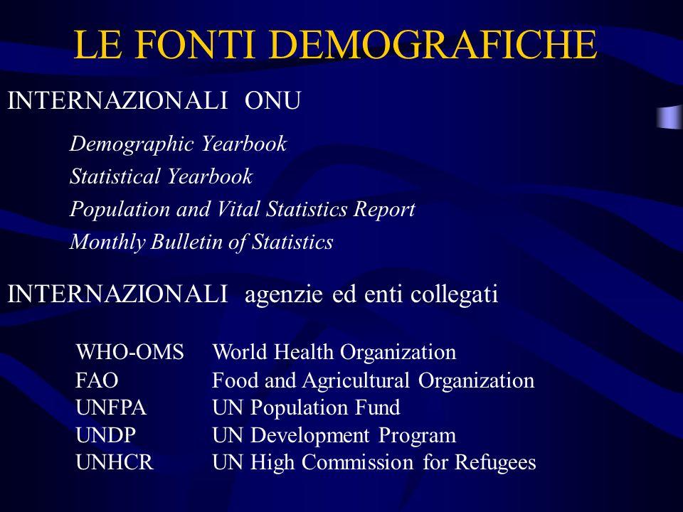 EQUAZIONE FONDAMENTALE P t0 = n - m + (i – e) P t0 popolazione nel tempo t con 0 n nascite m decessi (i – e) saldo migratorio i immigrazioni ; e emigrazioni