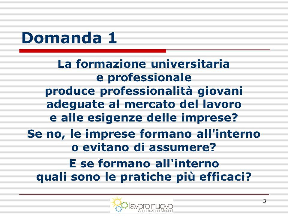 Università, mercato del lavoro, imprese Tre Imprenditori segnalano che le università italiane non producono professionalità adeguate al mercato del lavoro.