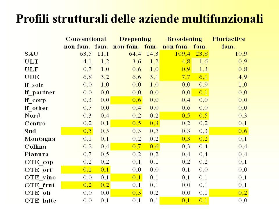 Profili strutturali delle aziende multifunzionali