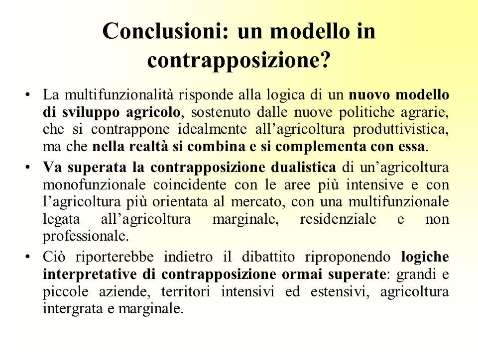 Conclusioni: un modello in contrapposizione.