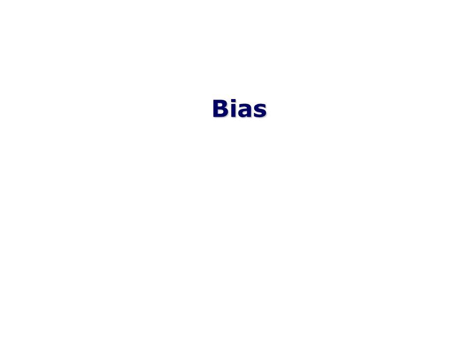 Qualsiasi tendenza nella raccolta, l analisi, l interpretazione, la pubblicazione o la revisione dei dati, che possa portare a conclusioni che sono sistematicamente diverse dalla verità (Last, 2001) Un processo a qualsiasi stato di inferenza che tende a produrre risultati che si discostano sistematicamente dai veri valori (Fletcher et al, 1988) Errore sistematico nella progettazione o conduzione di uno studio (Szklo et al, 2000) Cosa è il Bias?