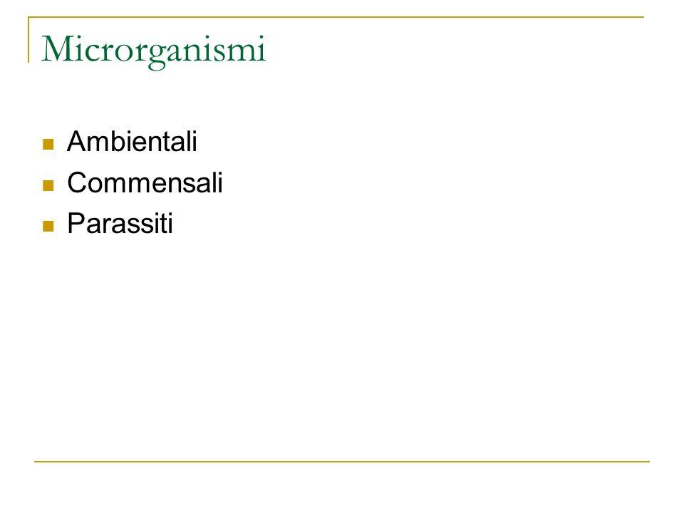 Microrganismi Ambientali Commensali Parassiti