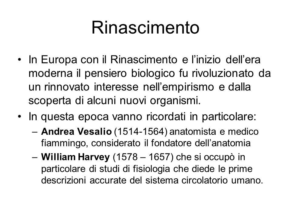 Rinascimento In Europa con il Rinascimento e linizio dellera moderna il pensiero biologico fu rivoluzionato da un rinnovato interesse nellempirismo e
