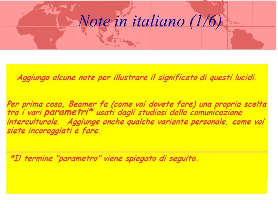 Note in italiano (2/6) parametro – indicatore convenzionale di una quantità o qualità che non è possibile misurare in sé.