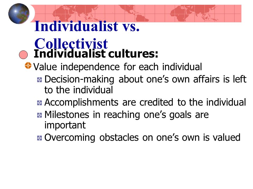 Individualist vs.