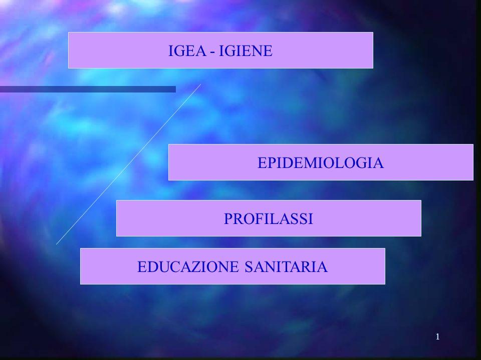 1 EDUCAZIONE SANITARIA IGEA - IGIENE EPIDEMIOLOGIA PROFILASSI