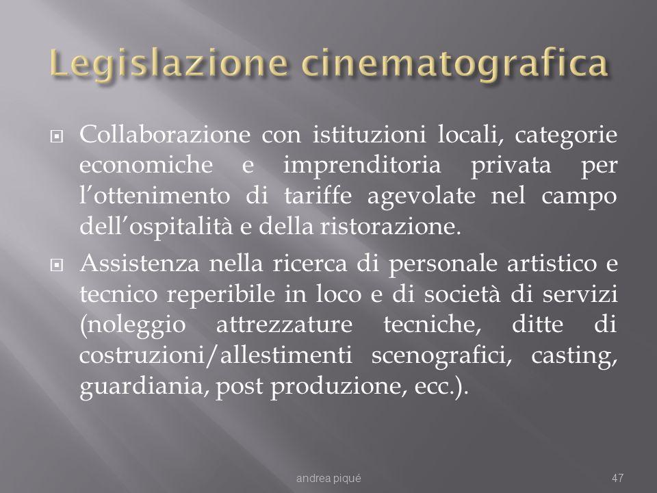 Collaborazione con istituzioni locali, categorie economiche e imprenditoria privata per lottenimento di tariffe agevolate nel campo dellospitalità e d
