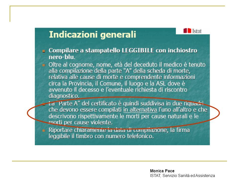 Monica Pace ISTAT, Servizio Sanità ed Assistenza