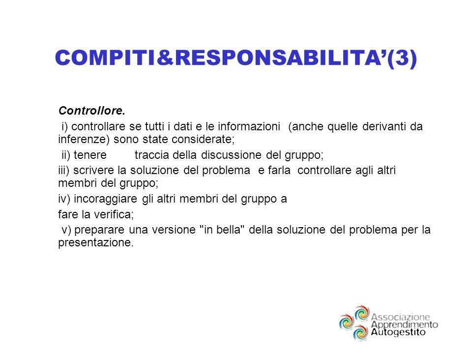 COMPITI&RESPONSABILITA(3) Controllore.