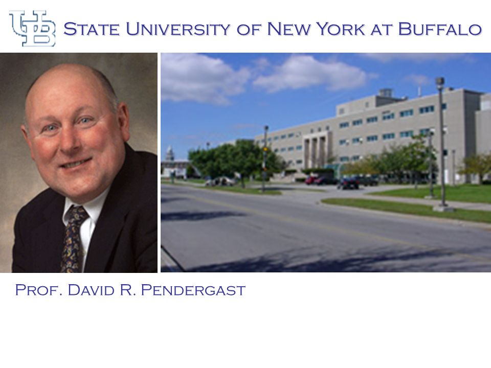 State University of New York at Buffalo Prof. David R. Pendergast