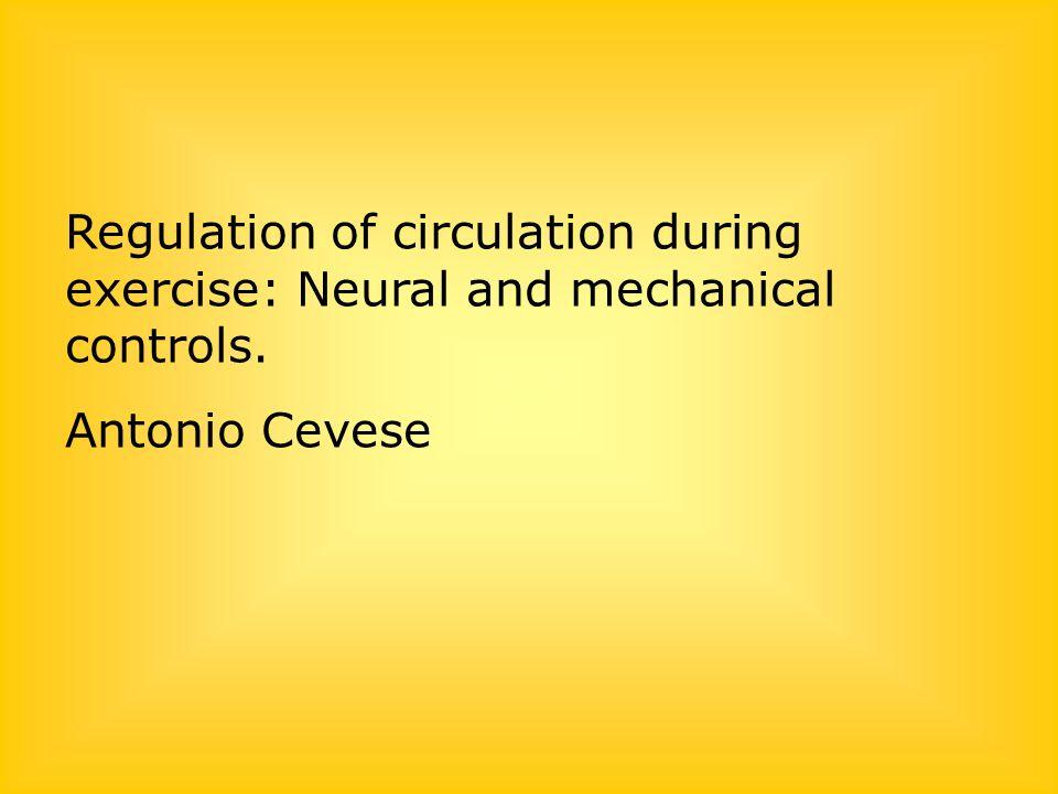 Lo scopo del cuore e del sistema circolatorio durante lesercizio è di trasportare la quantità di ossigeno richiesta dai muscoli che lavorano, aumentando la gittata cardiaca in maniera strettamente (e linearmente) correlata al consumo dossigeno del corpo, che a sua volta rispecchia in genere laumento del metabolismo muscolare