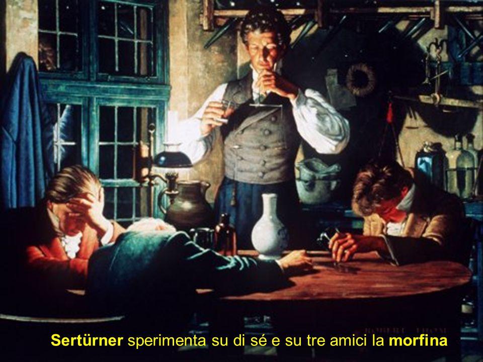 Sertürner sperimenta su di sé e su tre amici la morfina