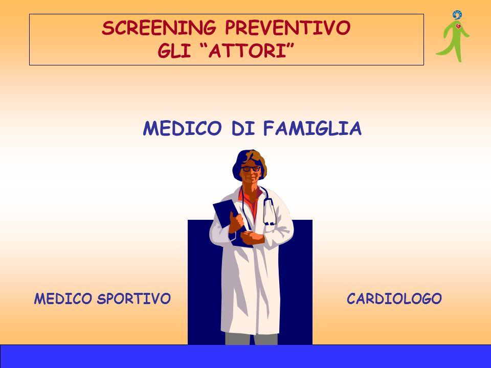 MEDICO SPORTIVOCARDIOLOGO MEDICO DI FAMIGLIA SCREENING PREVENTIVO GLI ATTORI