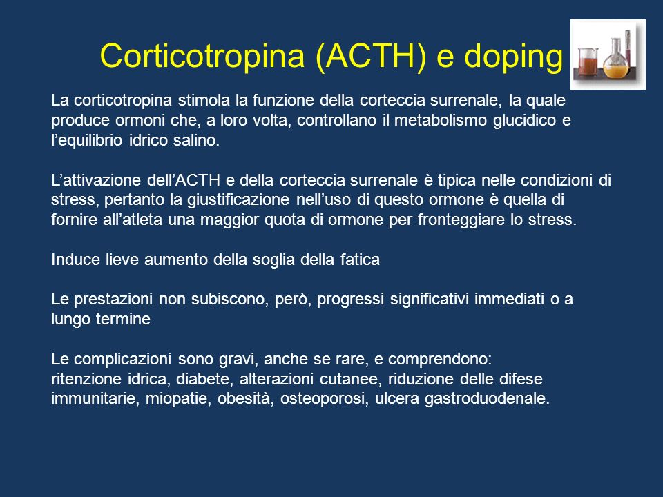 CRH ( Corticortopin releasing hormon ) Proopiomelanocortina (POMC) ACTH cortisolo Adattamento metabolico altri steroidi altri peptidi ??? -lipotropina