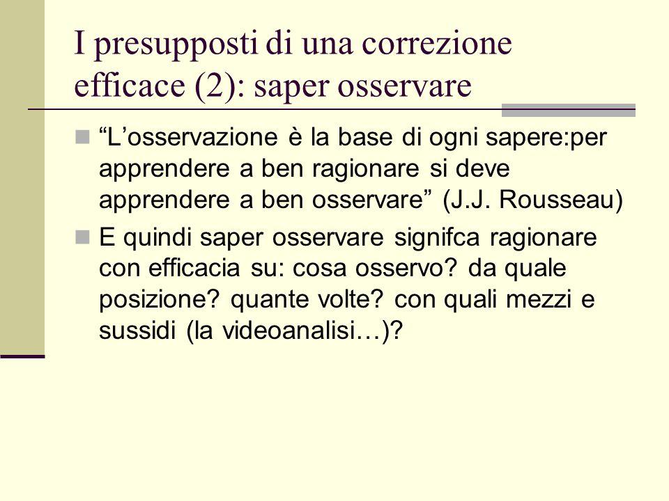 I presupposti di una correzione efficace (2): saper osservare Losservazione è la base di ogni sapere:per apprendere a ben ragionare si deve apprendere