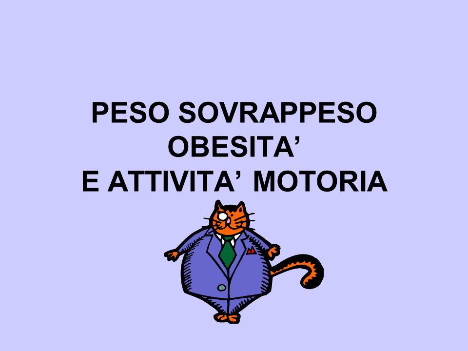 PESO SOVRAPPESO OBESITA E ATTIVITA MOTORIA