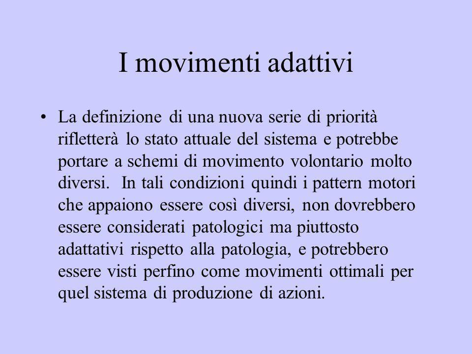 I movimenti adattivi La definizione di una nuova serie di priorità rifletterà lo stato attuale del sistema e potrebbe portare a schemi di movimento vo