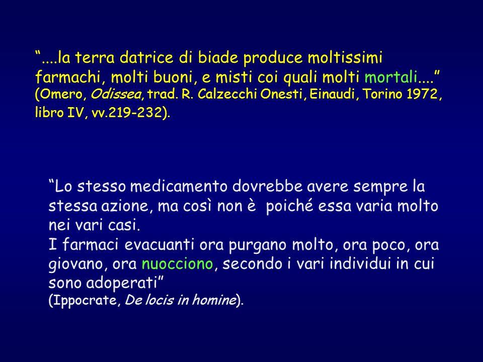 Gravi reazioni avverse che, in epoca moderna, hanno attirato lattenzione sui rischi da farmaci Anno 1880 1937 1952 1954 1961 1966 1967 1972 Farmaco Cloroformio Sulfanilamide Cloramfenicolo Stalinon Talidomide Contraccettivi Simpaticomimetici Dietilstilbestrolo Reazione Arresto cardiaco Avvelamento da dietilenglicole Anemia aplastica Avvelenamento fatale Focomelia Tromboembolismo Morti da asma Carcinoma vaginale E le crisi continuano……………cerivastatina, rofecoxib…?.
