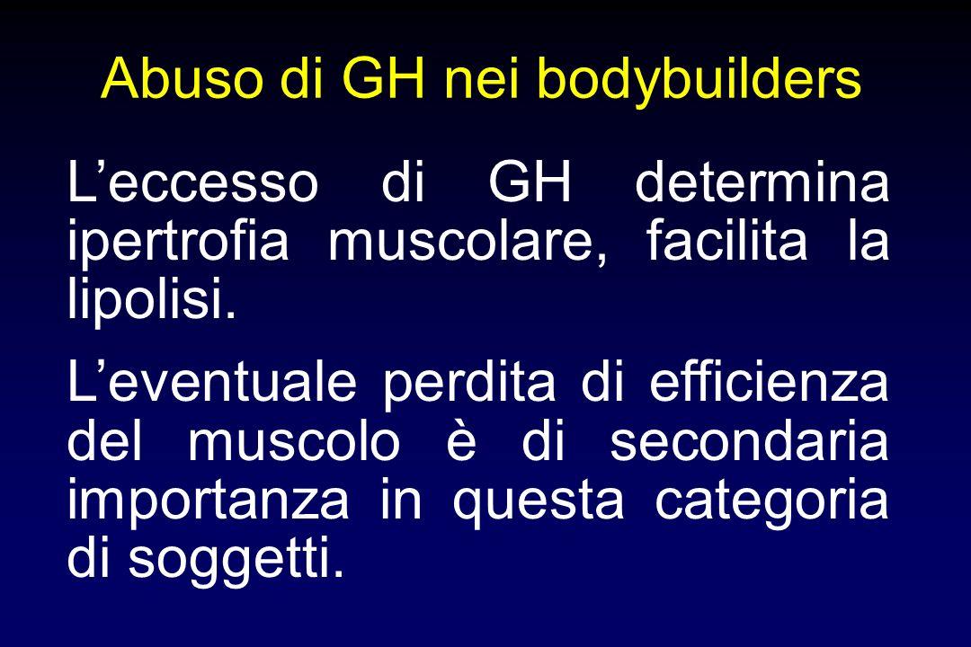 Effetti di trattamenti con dosi sovrafisiologiche di GH su composizione corporea e apparato muscolare aumento massa magra e riduzione massa grassa aum