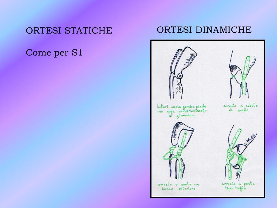 ORTESI STATICHE Come per S1 ORTESI DINAMICHE