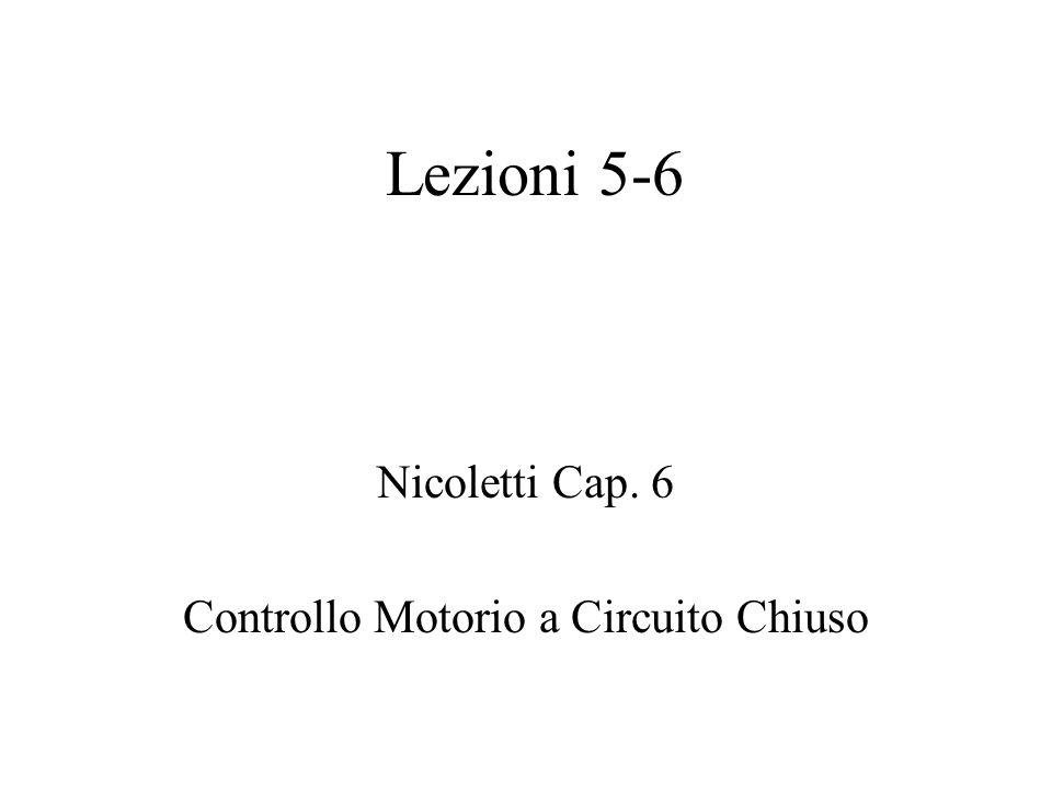 Lezioni 5-6 Nicoletti Cap. 6 Controllo Motorio a Circuito Chiuso