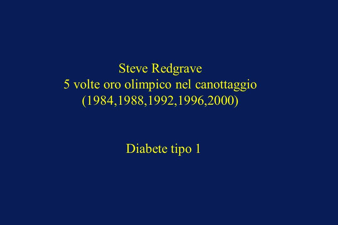 Steve Redgrave 5 volte oro olimpico nel canottaggio (1984,1988,1992,1996,2000) Diabete tipo 1