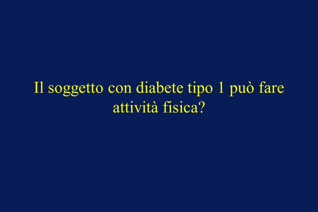 Il soggetto con diabete tipo 1 può fare attività fisica?