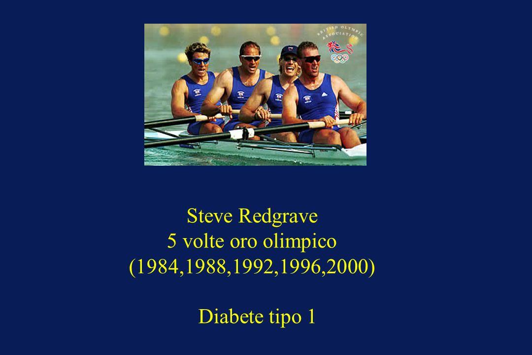 Steve Redgrave 5 volte oro olimpico (1984,1988,1992,1996,2000) Diabete tipo 1