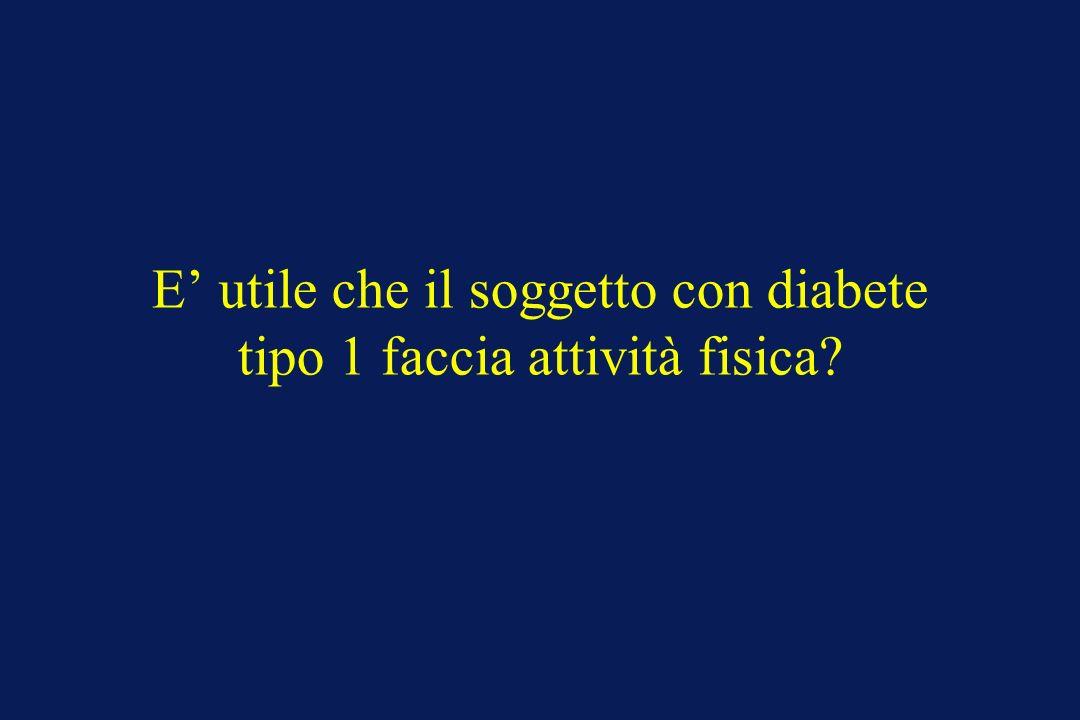 E utile che il soggetto con diabete tipo 1 faccia attività fisica?