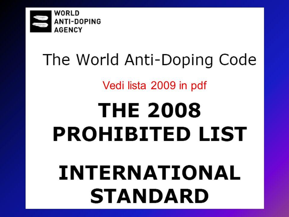 Vedi lista 2009 in pdf