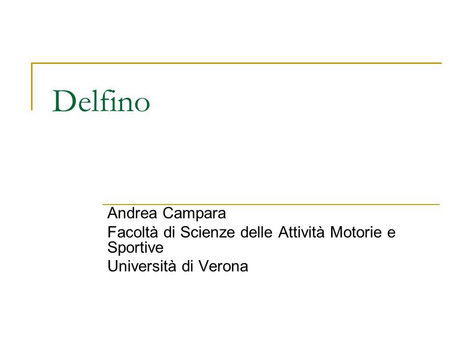 Delfino Andrea Campara Facoltà di Scienze delle Attività Motorie e Sportive Università di Verona