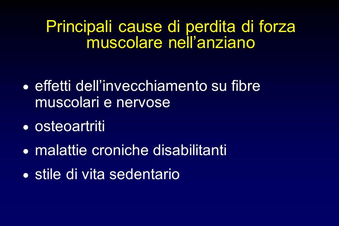 Conseguenze generali dellinvecchiamento riduzione sintesi proteica declino funzione immunitaria aumento massa grassa perdita massa e forza muscolare r
