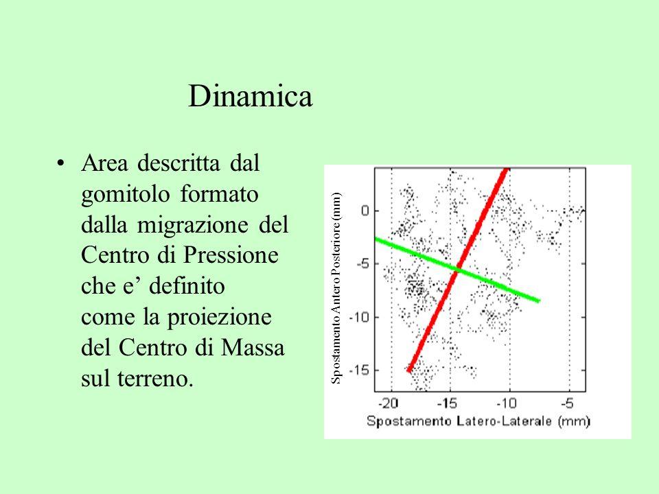 Area descritta dal gomitolo formato dalla migrazione del Centro di Pressione che e definito come la proiezione del Centro di Massa sul terreno. Sposta
