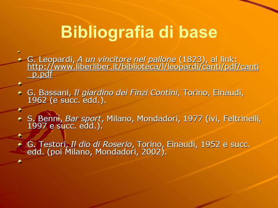 Bibliografia di base G.