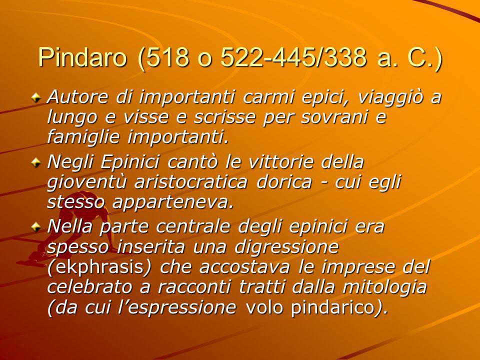 Pindaro (518 o 522-445/338 a.